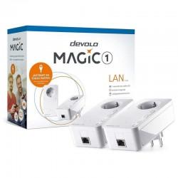 Plc/powerline devolo magic 1 1-1-2 8301 - 2 unidades - 1200mbps (plc)/300mbps (ethernet) - rj45 - toma schuko - automdi/x -