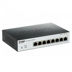 Switch dlink dgs-1100-08p - 8 puertos rj45 10/100/1000 base-tx - poe - memoria 2mb - diseño sin ventilador
