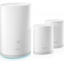 Sistema mesh wifi huawei q2 pro 53037154 - base (1*ge wan/2*ge lan) + 2*satélite (2*ge lan) - 2.4/5ghz - modo router/repetidor