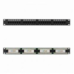 Patch panel nanocable 10.21.2124 24 puertos - 19'/48.26cm - 1u - para rj45 cat.5e utp - acepta cables de calibres 26 / 24 / 23