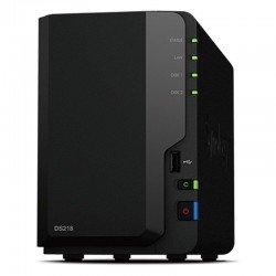 Nas synology diskstation  ds218 - 2 bahías (3.5/2.5) - cpu qc 1.4ghz - 2gb ddr4 - lan gigabit - usb - 2*usb 3.0 - para pequeñas