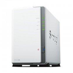 Nas synology diskstation ds220j - realtek rtd1296 1.4ghz - 512mb - 2 bahías (3.5/2.5) max. 32tb - rj45 gigabit - 2xusb3.0