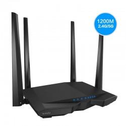 Router inalámbrico tenda ac6 - 802.11ac - 1167mbps - 5/2.4ghz - chipset broadcom - 1xwan - 3xlan - 4x5dbi antenas - easy setup