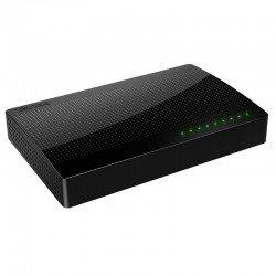 Switch tenda sg108 - 8 puertos 10/100/1000 - mdi/mdix automático - plug and play - escritorio/montaje en pared