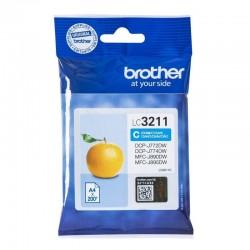 Cartucho de tinta cian brother lc3211c - 200 páginas - compatible según especificaciones