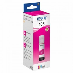 Botella de tinta magenta epson 106 ecotank - contenido 70 ml - compatibilidad según características