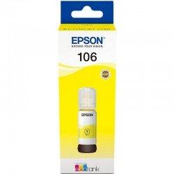 Botella de tinta amarilla epson 106 ecotank - contenido 70 ml - compatibilidad según especificaciones