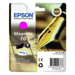 Cartucho tinta magenta epson durabrite ultra 16 - 3.1ml - pluma y crucigrama - compatible segun especificaciones