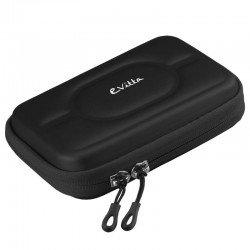 Funda e-vitta cover shock black para disco duro o powerbank de 2.5'/6.35cm - nylon semirrigido - bandas elásticas - doble