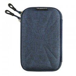 Funda subblim hdd business dark blue para disco de 2.5'/6.35cm - exterior rígido - interior acolchado - bandas elásticas