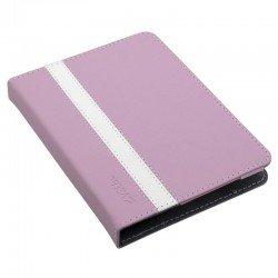 Funda universal e-vitta booklet pink para ebook 6'/15.24cm - fijación moldes de plástico - cierre con banda