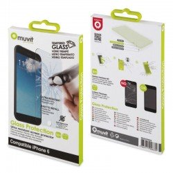 Protector de pantalla muvit para iphone 6 - cristal templado 0.33mm