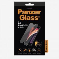 Protector de pantalla panzerglass 2684 para iphone 6/6s/7/8/se (2020) - bordes redondeados - anti bacteria/huellas