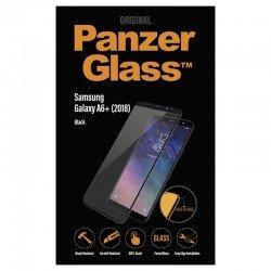 Protector de pantalla panzerglass 7150 para samsung galaxy a6+ (2018) negro - cristal templado - borde a borde