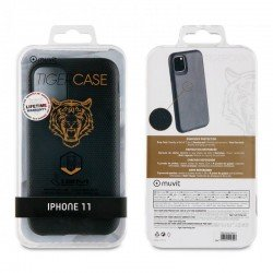 Funda shockproof muvit tiger triangle tgbkc0043 negra - para apple iphone 11 - protección contra caídas