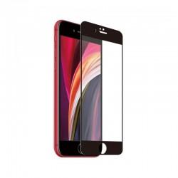 Protector de pantalla muvit mctpg0026 para iphone se/7/8 - vidrio templado con marco negro 0.3mm - resistencia 9h -
