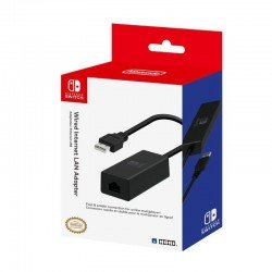 Adaptador usb a lan hori para nintendo switch - usb 2.0 - plug and play - licencia oficial nintendo