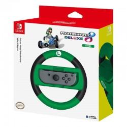 Volante hori mario kart 8 deluxe luigi para nintendo switch - revestimiento antideslizante - gatillos extragrandes para los