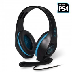 Auriculares con micrófono para ps4 spirit of gamer pro-sh5 - drivers 40mm - conector jack 3.5mm - cable 1m