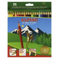 Estuche 24 unidades lapices de colores alpino