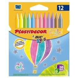 Ceras plasticas plastidecor pastel - estuche 12 unidades surtidas - 9339611