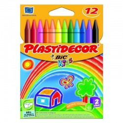 Ceras plasticas plastidecor - estuche 12 unidades surtidas - bic875770
