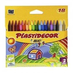 Ceras plasticas plastidecor - estuche 18 unidades surtidas - bic875771
