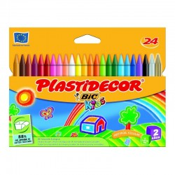 Cera plastica plastidecor - estuche 24 unidades surtidas - bic875772