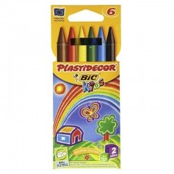 Cera plastica de colores plastidecor - 6 unidades surtidos - bic875773