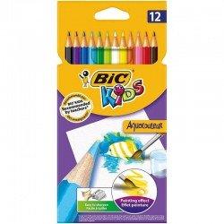 Lapices de colores bic kids - mina acuarelable - 12 unidades