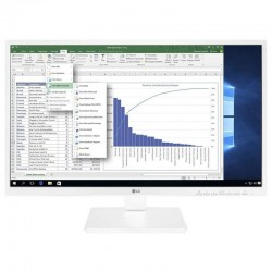 Monitor led multimedia lg 24bk550y-w - 24'/60.9cm ips - 1920*1080 - 2*1.2w - vga - dvi - hdmi - displayport - 3*usb - pivotante