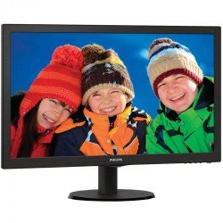 Monitor led philips v-line 223v5lhsb2 - 21.5'/ 54.6cm fullhd - 5ms - 10m:1 - 200cd/m2 - tamaño pixel 0.248 - vga - hdmi - vesa