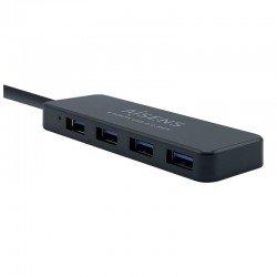 Hub usb aisens a106-0399 gris - conectores 1*usb-a 3.0 macho / 4*usb-a 3.0 hembra - longitud cable 30cm