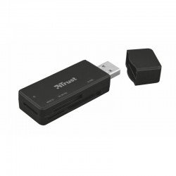 Lector de tarjetas externo trust nanga usb 3.1 - compatible sd / micro sd / m2 / ms - tamaño compacto