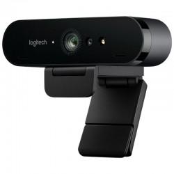Webcam logitech brío - videoconferencia 4k uhd@30fps - enfoque automático - rightlight 3 con hdr - micrófonos estéreo - sensor