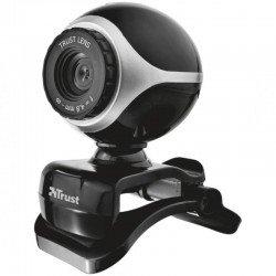 Webcam con micrófono trust exis 640x480 usb2.0 con pinza ajustable negra / plata 17003