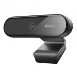 Webcam con micrófono trust tyro - fhd 1080p - balance de blancos automático - enfoque automático - cable usb 150cm - trípode