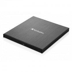 Grabadora externa slimline blu-ray uhd 4k verbatim 43888 - lectura 6x / escritura 4x - compatible con mdisc - usb 3.1 gen 1