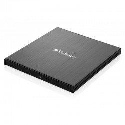 Grabadora externa slimline blu-ray verbatim 43889 - dvd 8x - bluray 6x - bdxl 4x - compatible con mdisc - usb 3.1 gen 1 usb