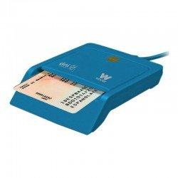 Lector de dni/tarjetas inteligentes woxter azul - compatible con dnie/dni 3.0 y smartcards - usb 2.0 - compatible mac/pc
