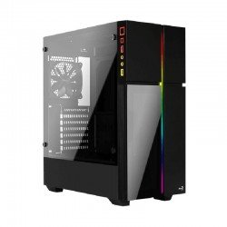 Caja semitorre aerocool playaxl - 2* usb 3.0 - audio/micrófono - soporta refrigeración líquida - atx/micro atx/mini itx