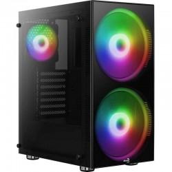 Caja semitorre aerocool python - usb 3.0/2*usb 2.0 - hd audio+mic - soporta refrigeración líquida - atx/micro-atx/mini-itx