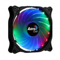 Ventilador aerocool cosmo 12 frgb - 12cm - 1000rpm - iluminación rgb fija - 23.9dba - conector molex