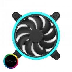 Ventilador hiditec vgch10001 - 120mm - iluminación led rgb - ventilador 7 aspas - silencioso