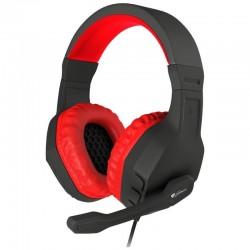Auriculares con micrófono génesis argón 200 red - drivers 50mm - 100-10000hz - control de volumen - cable 2m 2*mini jack