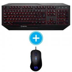 Kit gaming hiditec teclado gk200 y ratón esus - 8 teclas funciones gaming + 8 teclas antighost - ratón iluminado 6 colores - usb
