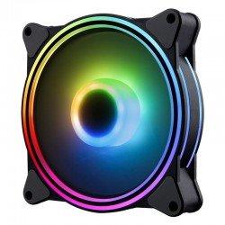 Ventilador hiditec n8-argb - 1200rpm - 120mm - iluminación argb rainbow - 22dba - silencioso