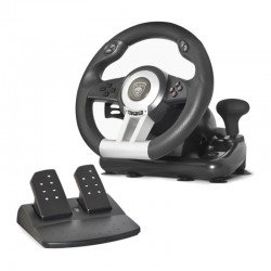 Volante de carreras con pedales spirit of gamer race pro wheel - giro 180º - 5 botones - compatible pc / ps2 / ps3