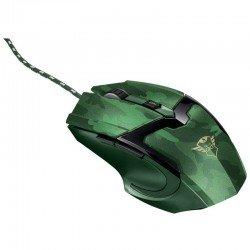 Ratón gaming trust gaming gxt 101d gav jungle camo - 600-4800ppp - 6 botones - cable trenzado 1.8m