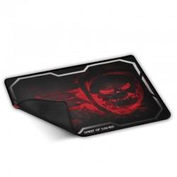 Alfombrilla spirit of gamer smokey skull red tamaño xl - 435x323 - 3mm - base goma - compatibilidad ratón óptico y láser